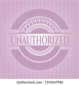 Unauthorized pink emblem. Retro