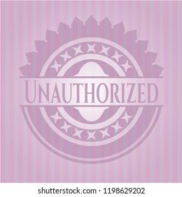 Unauthorized retro pink emblem
