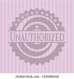 Unauthorized retro style pink emblem