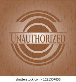 Unauthorized retro style wooden emblem