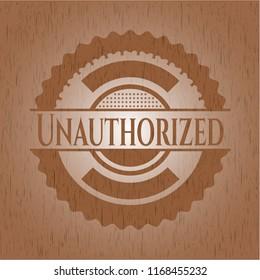 Unauthorized wood signboards