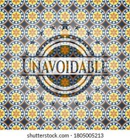 Unavoidable arabesque emblem background. arabic decoration.