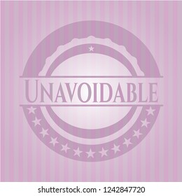 Unavoidable badge with pink background