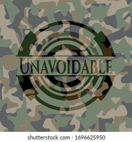 Unavoidable camouflaged emblem. Vector Illustration. Detailed.