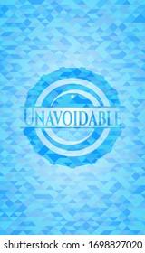 Unavoidable light blue mosaic emblem