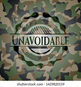Unavoidable on camo pattern. Vector Illustration. Detailed.