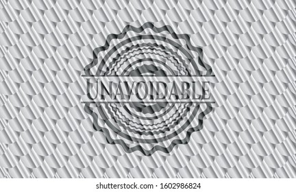 Unavoidable shiny silver emblem. Scales pattern. Vector Illustration. Detailed.