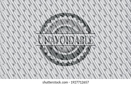Unavoidable silver color badge. Scales pattern. Vector Illustration. Detailed.