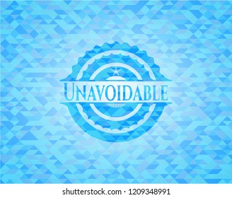 Unavoidable sky blue mosaic emblem