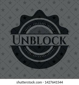 Unblock black emblem. Vector Illustration. Detailed.