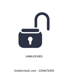 unblocked icon. Simple element illustration from user interface concept. unblocked editable symbol design on white background. Can be use for web and mobile.