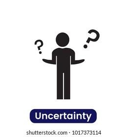 Uncertainty icon. Simple vector illustration