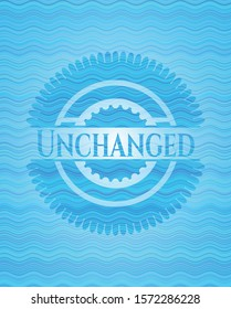 Unchanged light blue water style badge. Vector Illustration. Detailed.