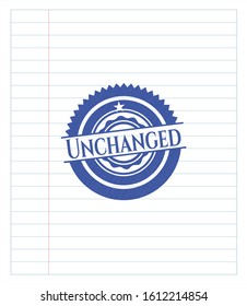 Unchanged pen draw. Blue ink. Vector Illustration. Detailed.