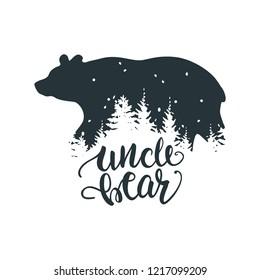 papa bear bear family unique hand stock vector royalty free