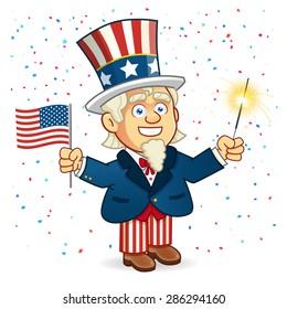 Uncle Sam American Parade