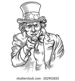 uncle sam engraving style