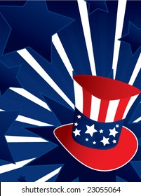 Uncle Sam hat background - vector