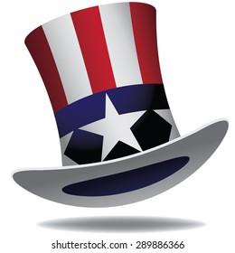 Uncle Sam Hat. EPS 10 vector.