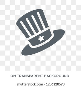 Uncle Sam hat icon. Uncle Sam hat design concept from Political collection. Simple element vector illustration on transparent background.