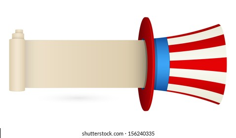Uncle Sam Hat with message space - Constitution Day Vector Illustration