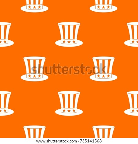 uncle sam hat pattern repeat seamless stock vector royalty free
