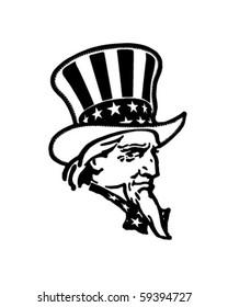 Uncle Sam - Retro Clip Art