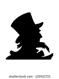 Uncle Sam Silhouette - Retro Clip Art Illustration
