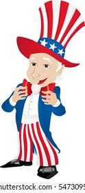 Uncle Sam United States of America. Editable Vector Illustration