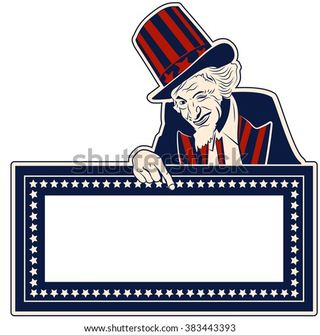 uncle sam vector design template stock vector royalty free