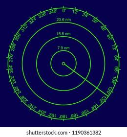 Uncluttered radar screen vector illustration
