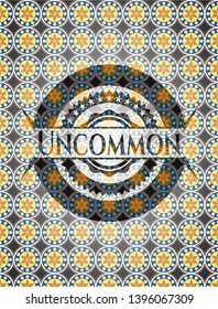 Uncommon arabic badge. Arabesque decoration.