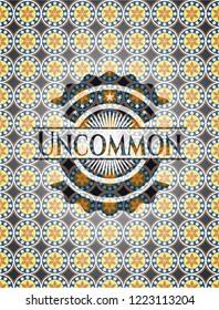 Uncommon arabic style emblem. Arabesque decoration.