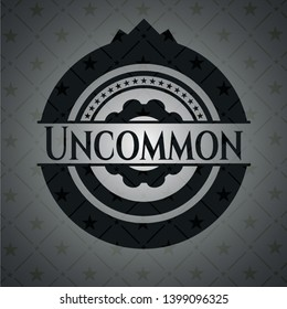 Uncommon black emblem. Vector Illustration. Detailed.