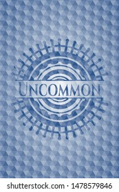 Uncommon blue hexagon badge. Vector Illustration. Detailed.