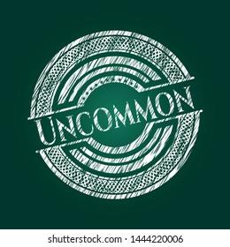 Uncommon chalk emblem. Vector Illustration. Detailed.