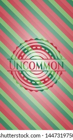 Uncommon christmas colors style emblem. Vector Illustration. Detailed.