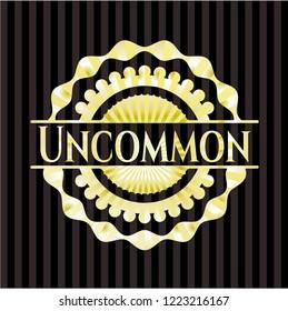 Uncommon gold shiny badge