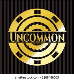 Uncommon golden badge or emblem