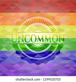 Uncommon lgbt colors emblem