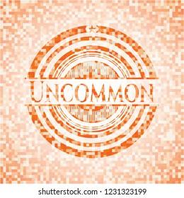 Uncommon orange mosaic emblem