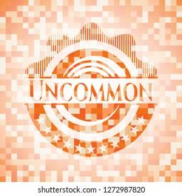 Uncommon orange mosaic emblem with background