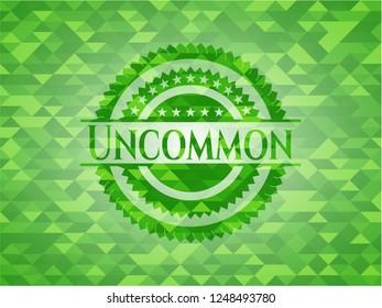 Uncommon realistic green mosaic emblem