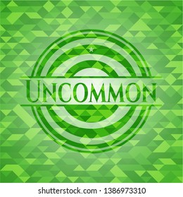 Uncommon realistic green mosaic emblem. Vector Illustration. Detailed.