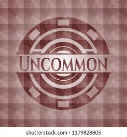 Uncommon red geometric pattern emblem. Seamless.