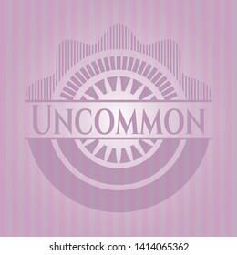 Uncommon retro pink emblem. Vector Illustration. Detailed.