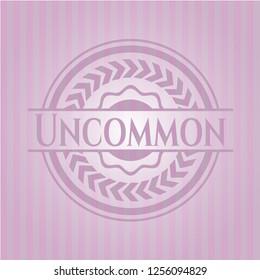 Uncommon retro style pink emblem