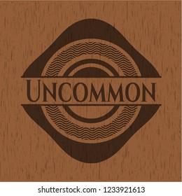 Uncommon retro wooden emblem