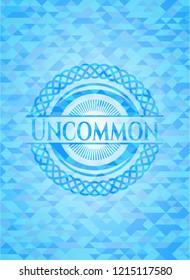 Uncommon sky blue emblem with mosaic ecological style background