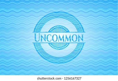 Uncommon water wave badge background.